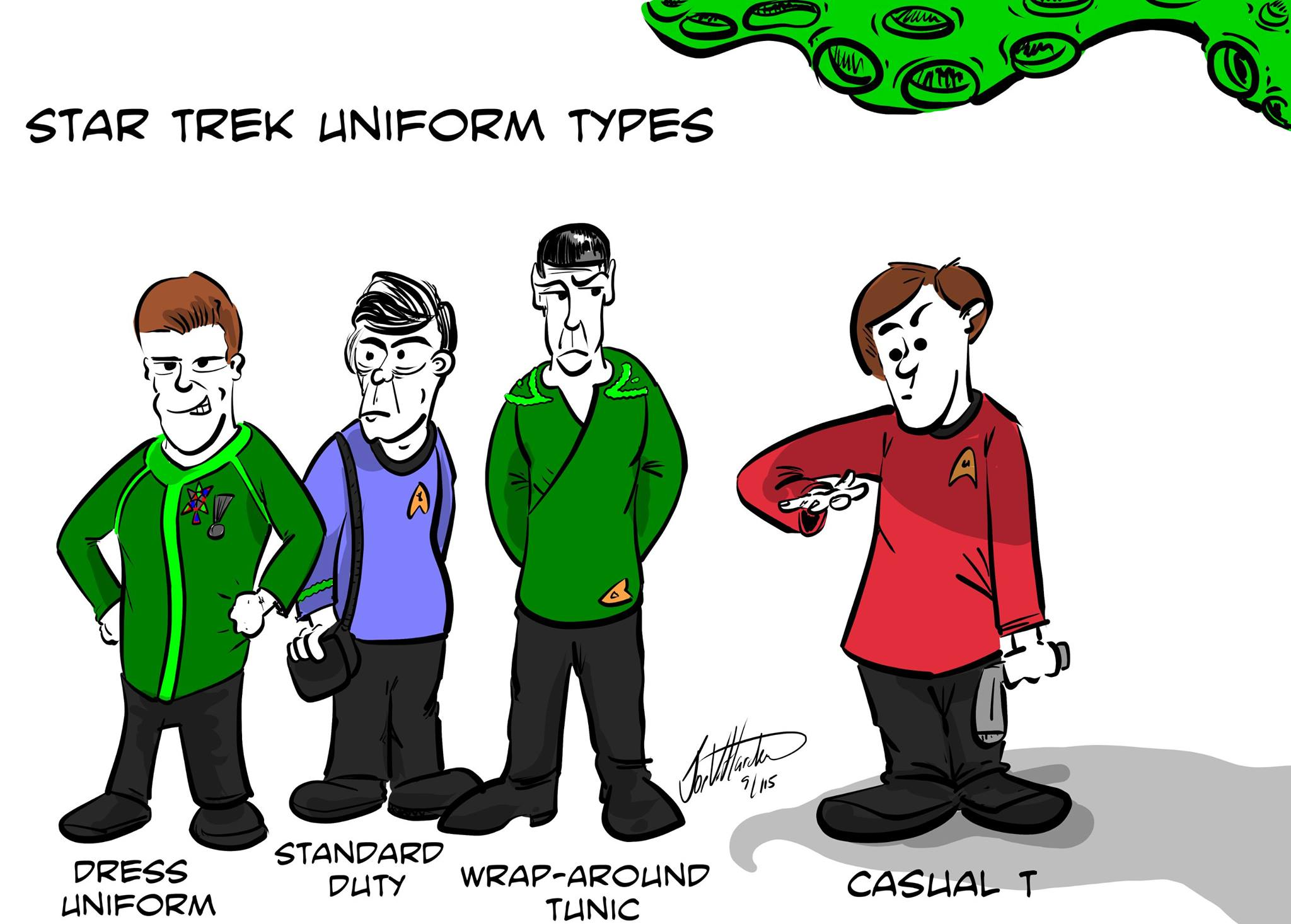 Star Trek Uniform Types